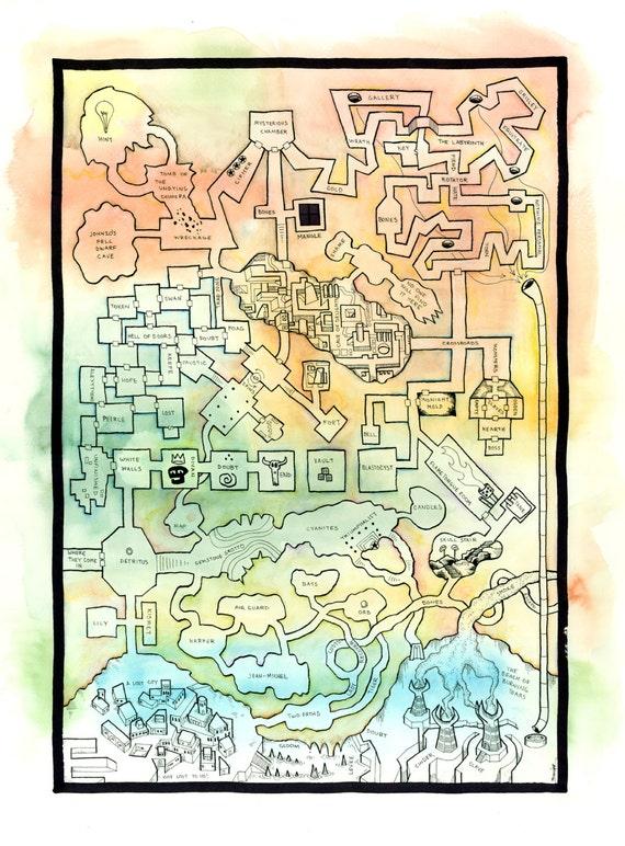 Giclee Print, Art Maze