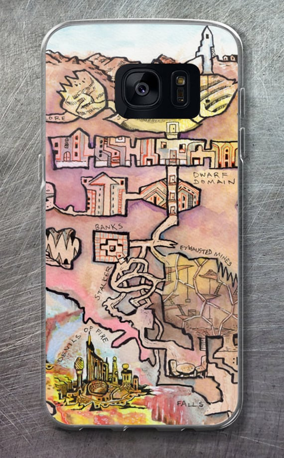 Dungeon Map Samsung Case - City of Flame