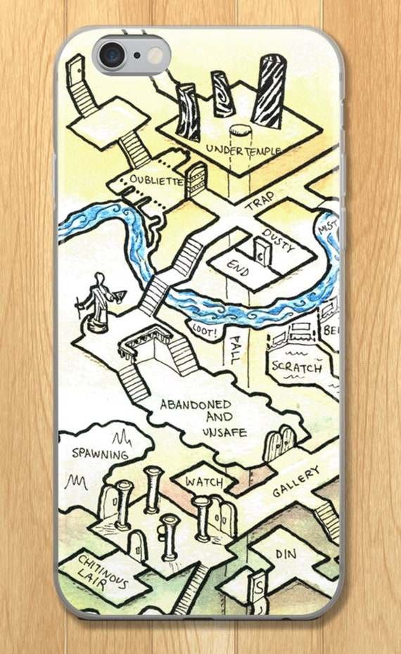 Dungeon Map iPhone Case - Saint Obsidian