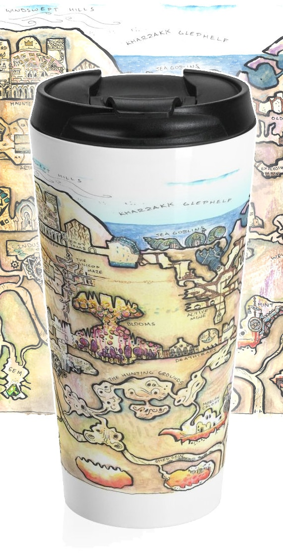 Megadungeon Map Travel Mug: The Dwarven Dungeon