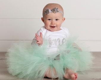 Winter OneDerLand Birthday Outfit Girl | Mint Tutu Dress