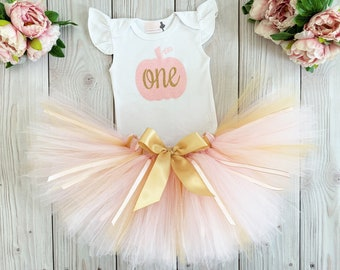 Pumpkin First Birthday Outfit Girl | One Year Old Cake Smash Outfit Girl | 1st Birthday Tutu Dress | Baby Girl Birthday Gift