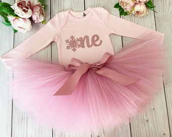 Winter OneDerLand First Birthday Outfit Girl   Pink Birthday Tutu