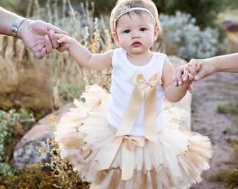 Gold Birthday Outfit | Birthday Outfits | 1st Birthday Outfit | First Birthday Outfit | Cake Smash Outfits | Tutu Dress | Birthday Tutu