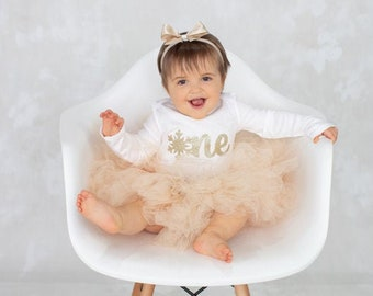 Winter OneDerLand First Birthday Outfit Girl | Snowflake Tutu