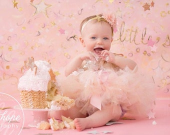 Pink and Gold First Birthday Girl Outfit | 1st Birthday Tutu | Cake Smash Outfit Girl