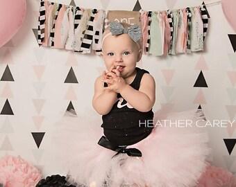 Baby Girl Paris 1st Birthday Outfit | Baby Tutu | Tutu Dress | Birthday Dress | Baby Girls Cake Smash Outfits | Birthday Tutu