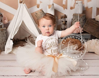Wild and One Baby Girl 1st Birthday Outfit | Baby Tutu | Tutu Dress | Birthday Dress | Baby Girls Cake Smash Outfits | Birthday Tutu