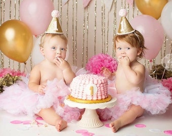 First Birthday Outfits for Twin Baby Girls