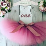 Rose Gold 1st Birthday Girl Outfit