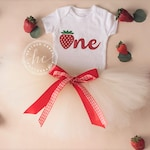 Strawberry First Birthday Outfit Girl | Sweet One 1st Birthday Girl