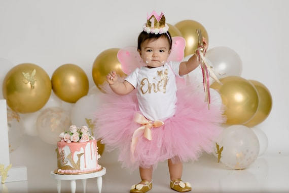 First Birthday Girl Tutu Outfit Fairy 1st Birthday Gift