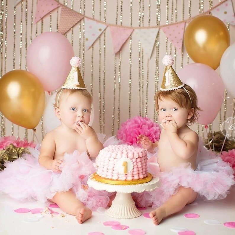 Twin Girls First Birthday Outfit Girl  1st Birthday Girl  image 0