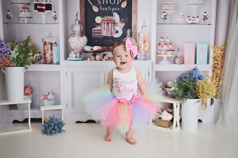 Sweet One First Birthday Outfit Girl  Sweet One Tutu Dress  image 0