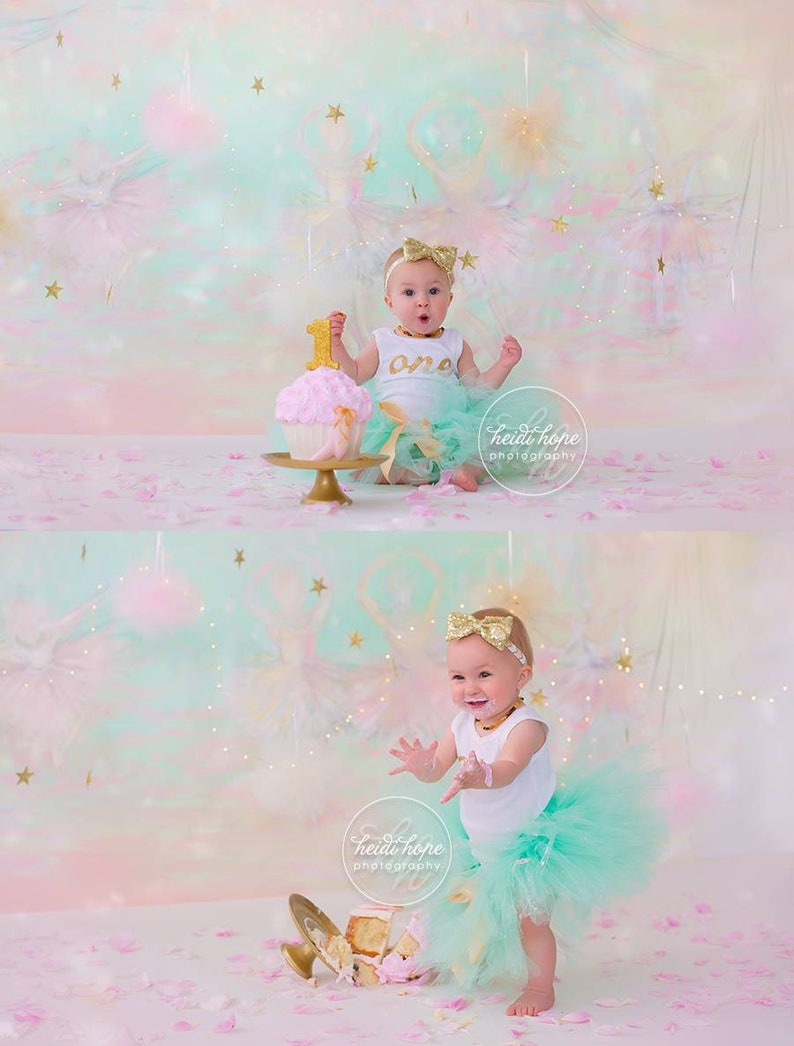 First Birthday Outfit Girl 1st Birthday Baby Girl Mint and Gold cake Smash Outfit Girl