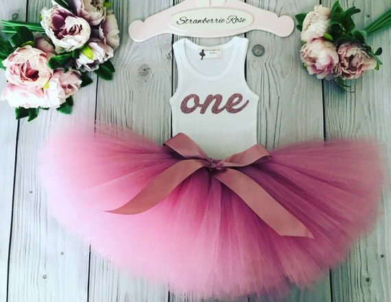 First 1st birthday baby girl outfit tutu cake smash photo shoot party