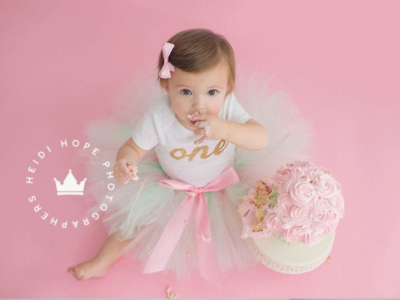 First Birthday Outfit Girl  1st Birthday Girl  Baby Girl image 0