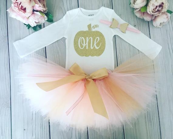 1st Birthday Tutu Little Pumpkin 1st Birthday Outift Girl Cake Smash Outfit Girl First Birthday Tutu Skirt First Birthday Outfit Girl