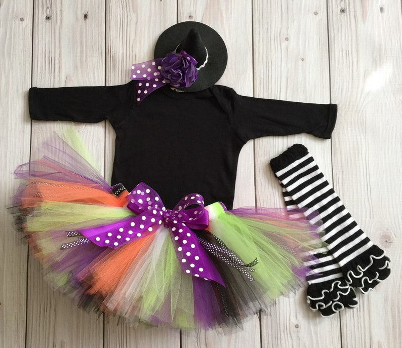 Baby Girl Halloween Costume Baby Witch Costume Witch Tutu