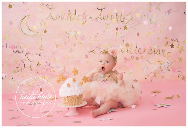 Pink First Birthday Outfit Girl  Baby Girl Tutu Dress image 0