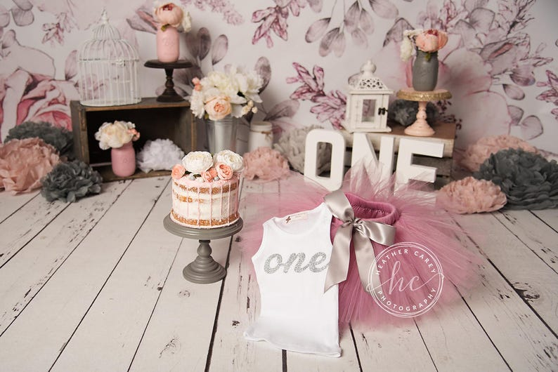 Baby Girl Tutu Dress 1st Birthday Girl First Birthday Outfit Girl Cake Smash