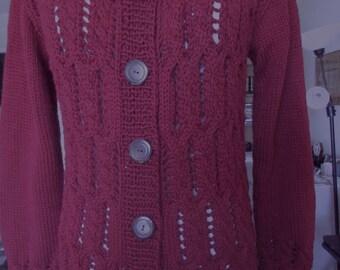 Garnet cotton blend cardigan no. 278