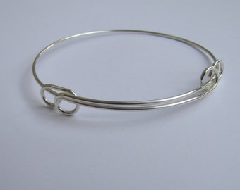 Sterling Silver Bangle 16 gauge wire expandable from  2.5 to 3.25 in. jewelry supplies findings