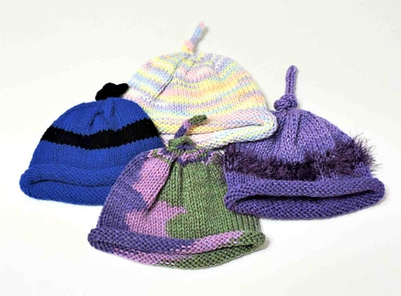 Hand Knit Umbilical Cord Baby Beanie  d592efa99bc4