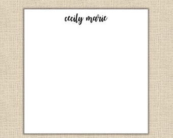 Personalized Notepad - 80 sheets (size 5.5x5.5 square)