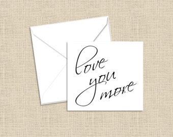 Love You More Foldover Enclosure Cards with Envelopes