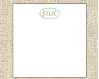Personalized Zip Code Notepad - square 5.5x5.5 (80 sheets)