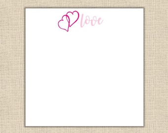 Love Notepad - 80 sheets (5.5x5.5 square)