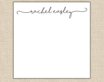 Personalized Script Notepad - 200 sheets