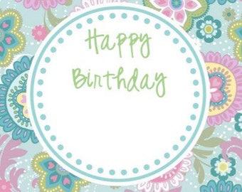 Happy Birthday 3x3 Enclosure Cards