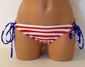 Usa stripes bikini bottoms bathing suit