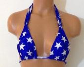 American Flag Stars Bikini Top