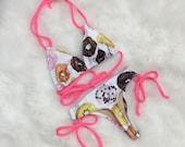 Women 39 s Donut Thong Bikini