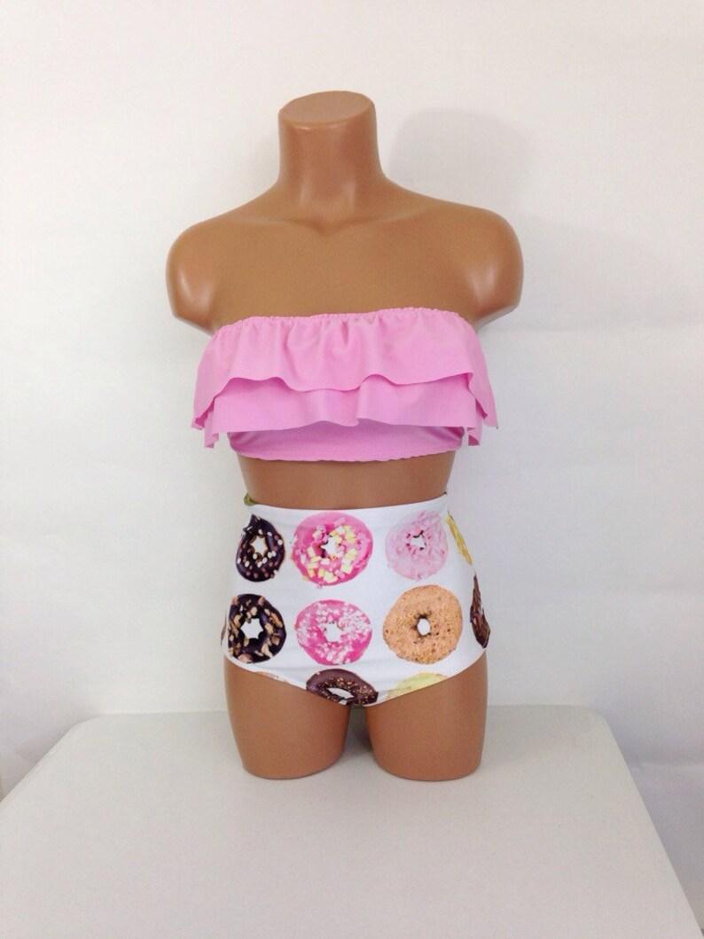 ab6c28fdf1 Women's Donut high waist swimsuit vintage bathing suit | Etsy