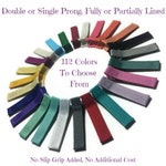 50 Solid Lined Alligator Hair Clips, 45mm, Solid Hair Clips, Lined Hair Clips, No Slip Clips, Partially, Fully Lined, Single, Double Prong