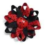 Ladybug Hair Bows, Summer Hair Bows, Spring Hair Bows, Red Black Bows, No Slip Hair Bows, Handmade Hair Bows, Handmade To Order, Accessories