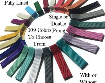 100 Solid Lined Alligator Clips, 45mm Lined Clips, No Slip Hair Clips, Solid Hair Clips, Single Prong, Fully, Partially Lined Clips