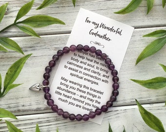 Godmother Gift Bracelet – with Sweet Message Card, Box & Bow
