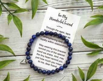 For My Wonderful Friend Bracelet – Best Friend BFF Gift Jewelry with Gift Box - Lapis