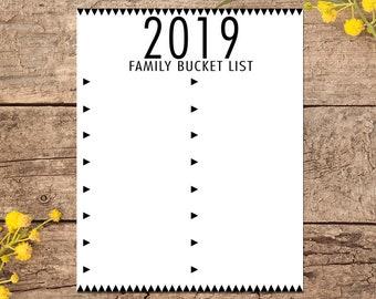 Summer Bucket List 2020.2019 2020 Bucket List Blank Template 16 X 20 And 8 X 10 Etsy
