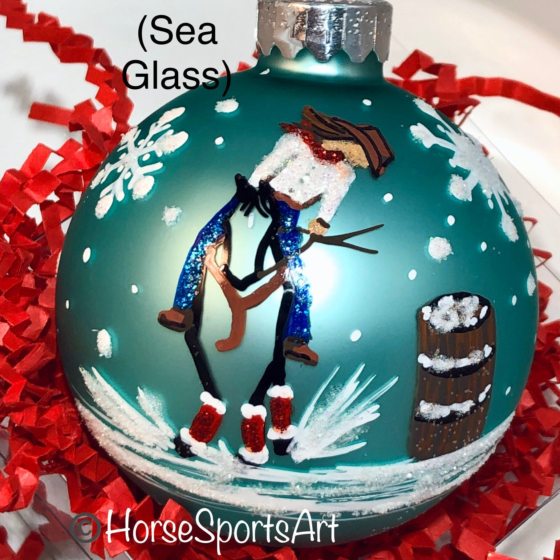 Western Barrel Racing Horse Christmas Ornament Gift Boxed Etsy