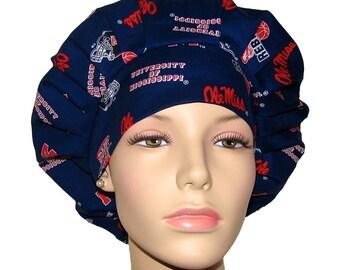 Women s Scrub Hat-University Of Mississippi Ole Miss Fabric-ScrubHeads-Bouffant  Scrub Hat-Ole Miss Scrub Hat-Scrub Cap-Ole Miss Rebels 13718ca8d8b5