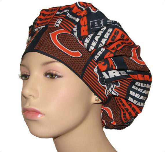 6fb55f0103e55 cheap scrub hats chicago bears patchwork fabric bouffant scrub etsy d0c85  0057d