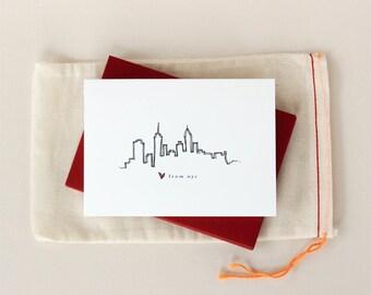 Love from New York City: Skyline Notecard Set