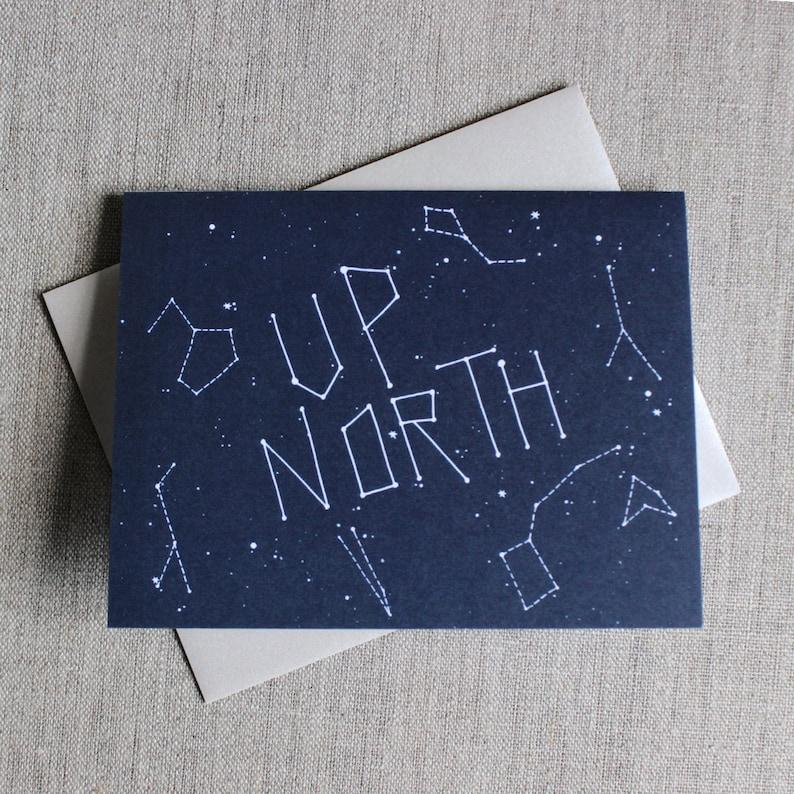 Up North Minnesota Constellation Card image 0