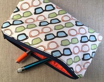 Multi-Color Eyeglasses: Zipper Pencil Makeup Pouch